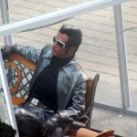 Images of SuperStar Rajinikanth from Endhiran set.