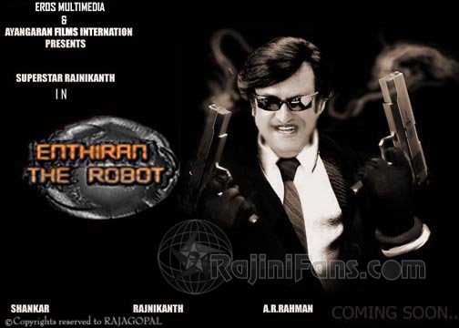 Its Enthiran Pose of Rajni