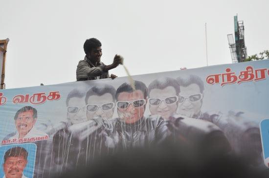 Rajini fans Celebrates Endhiran Film Release