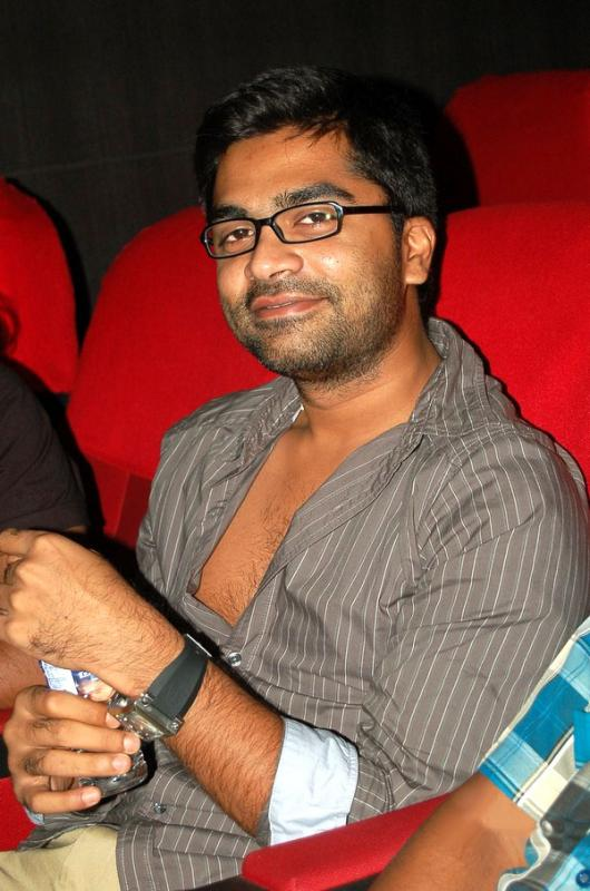 Silambarasan aka STR watching the endhiran movie